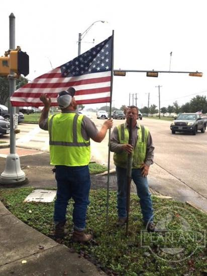 Flags Installed By City Ahead Of Veterans Day