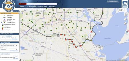 The City of Pearland is experiencing stream flooding