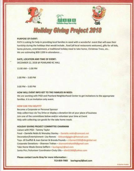 PATH Holiday Giving Project